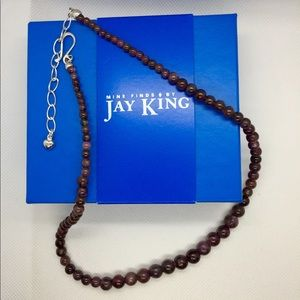 "Jay King Burgundy Corundum 18"" necklace"